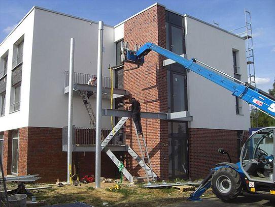 Stahlbau Treppenanlage